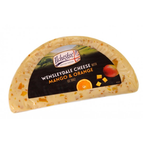 Сыр Ilchester Wensleydale Cheese With Mango & Orande c  манго и апельсином