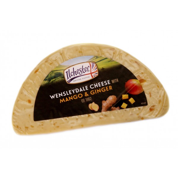 Сыр Ilchester Wensleydale Cheese With Mango & Ginger с манго и имбирем